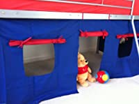 Under Bed Blue/red Tent Only, Suitable For Mid Sleeper, Cabin Bed, Fun & Colourful