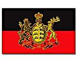 Flagge/Fahne KÖNIGREICH WÜRTTEMBERG - furchtlos und treu - Staatsflagge/Landesflagge/Hissflagge mit Ösen 150x90 cm, gute Qualität