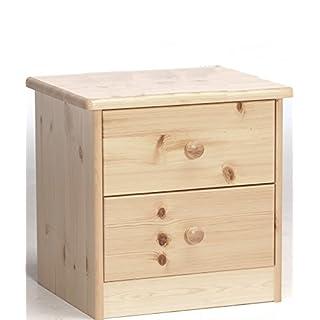Erst-Holz® 90.20-K02 Ela Nachttisch Nachtschränkchen Kiefer massiv 2 Schubläden