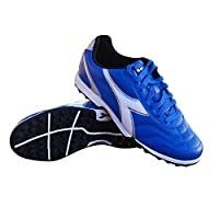 Diadora Men's Capitano TF Turf/Indoor/Outdoor Soccer Shoes (Royal/White/Silver, 13)