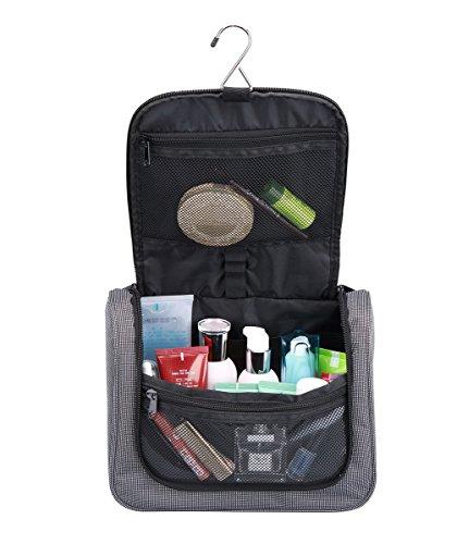 FEDER Kulturbeutel Compact I Große Reise-Kulturtasche zum Aufhängen für Damen und Herren I Kosmetik-Tasche zum Hängen I Waschtasche Waschbeutel Toilettentasche mit vielen Fächern