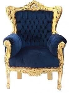 Enfants baroque Fauteuil Bleu Royal/Or