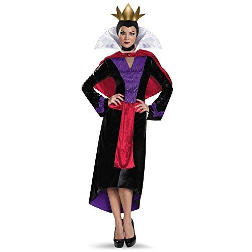 Disney Villains Evil Queen Deluxe Costume Halloween Karneval Fasching Kostüm (Disney Kostüm Queen Snow)