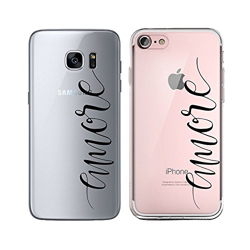 Blitz® TAKE IT EASY motifs housse de protection transparent TPE caricature bande iPhone Be positive M11 iPhone 6sPLUS Amore M10
