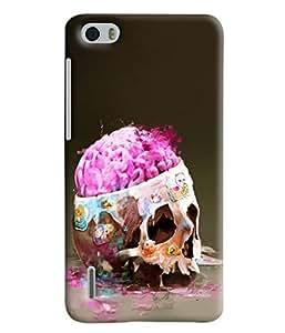 Blue Throat Open Brain Printed Designer Back Cover/Case For Huawei Honor 6