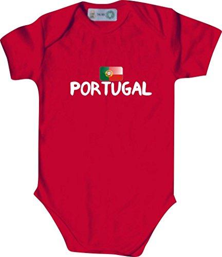 Unbekannt Cooler WM Länder Baby Body mit Flagge/PORTUGAL/Farbe: Rot/Größe: 62-68 (3-6 Monate)