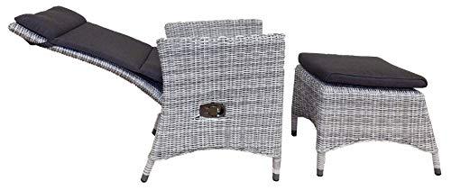 4 Seasons Outdoor Bolzano Dining Sessel mit Fußteil und inkl.Kissen mehrfach verstellbar Frio Taste