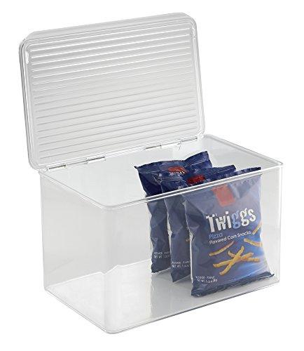 mDesign Aufbewahrungsbox mit Deckel – die praktische Vorratsdose und Frischhaltebox, durchsichtig