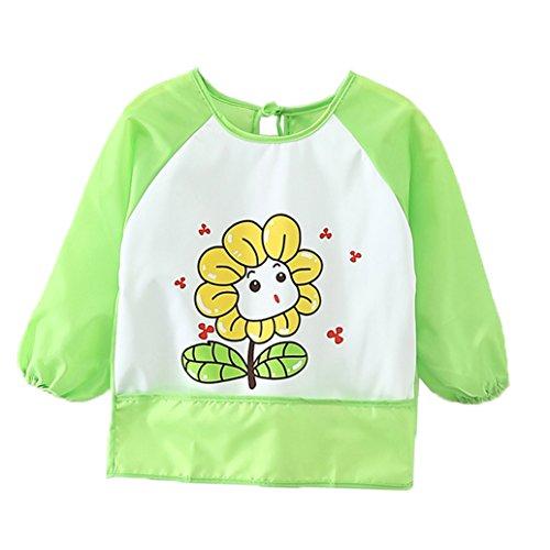 Babylaza grembiule pittura bambini,baby bavaglini bavaglino gembiule per bambini,consigliato per bambini da 6 mesi-3 anni