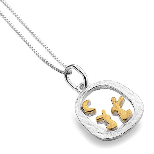 sterling-silver-925-gold-plated-moon-gazing-rabbit-pendant-necklace