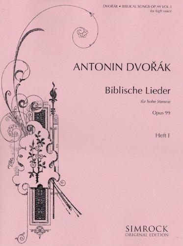 Biblische Lieder 1 Op.99 Chant