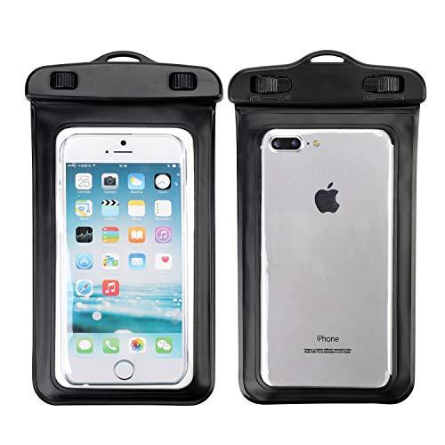 ITODA Trockentasche Universell Trockenbeutel für Handy Schutzhülle Wasserdichte Schutztasche Smartphone Handytasche Wasserfeste Hülle Trockensack HandyBeutel für iPhone X/6s/Samsung S9/S8