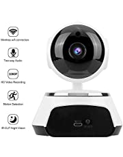 ZAAMBUTECH 1080P CCTV WiFi Smart Net IP 360 Degree Rotating Camera, Preset, Alarm, Night Vision, Security Camera with 128 gb sd Card Support. (Memory Card not Included)