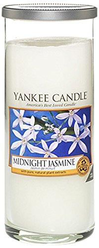 Yankee Candle bougie grande colonne « Jasmin de minuit », blanche