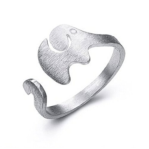 """Essential Go-Go """", in argento Sterling 925 a forma di piccolo elefante Studed-Anelli-Anello"""