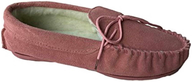 KURU - Zapatillas de estar por casa de Ante para mujer rosa Pink Fur 35.5