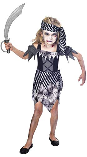 Fancy me girls ghostly zombie pirate swashbuckler creepy halloween costume travestimento 7 – 12 anni