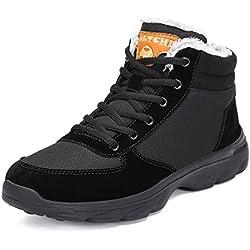 Pastaza Chaussures Trekking Homme Femme Bottes de Neige Hiver Imperméable Outdoor Boots Sneakers,A-Noir,45EU