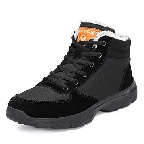 Pastaza Scarpe da Trekking Uomo Donna Stivali da Escursionismo Invernali Impermeabile Outdoor Sneakers,Nero-A,42EU