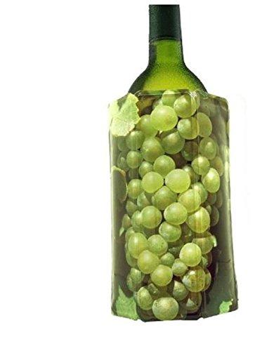 Vacu Vin - 38814606 - Aktiv Weinkühler Motiv Grüne Traube 0,75 - 1l