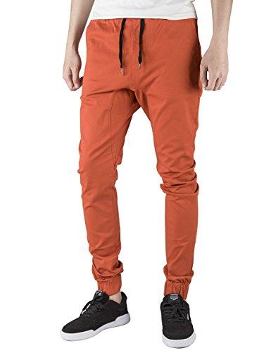 Italy Morn Herren Jogger Chino Hose Sweatpants Sporthose Jogging Baggy Jogginghose Slim Trainingshose Cargo Pants Twill Schwarz (S(Size28-30), Rost)