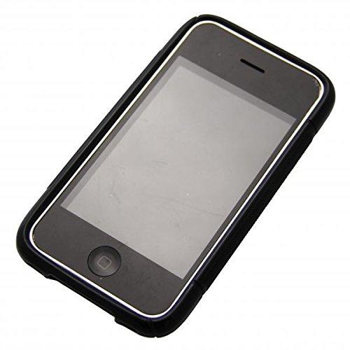 ECENCE APPLE IPHONE 3G 3GS SILIKON TPU CASE SCHUTZ HüLLE HANDY TASCHE COVER SCHALE 22040503 Schwarz