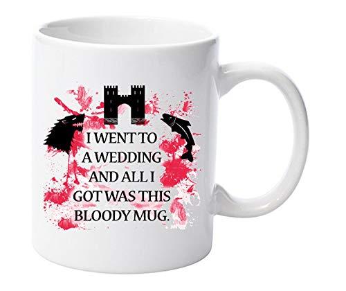 Ich Eine Hochzeit und alle i got wurde diese Tasse Rot Hochzeit Game of Thrones Geschenk 313ml Keramik Tasse