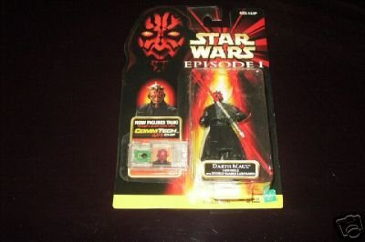 Star Wars - E1 - Commtech Chip Card - Darth Maul (Jedi Duel) - with Double-Bladed Lightsaber