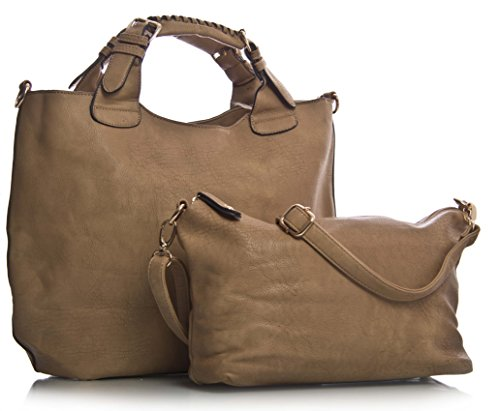 Big-Handbag-Shop-Womens-Faux-Leather-Top-Handle-Two-in-One-Tote-Bag