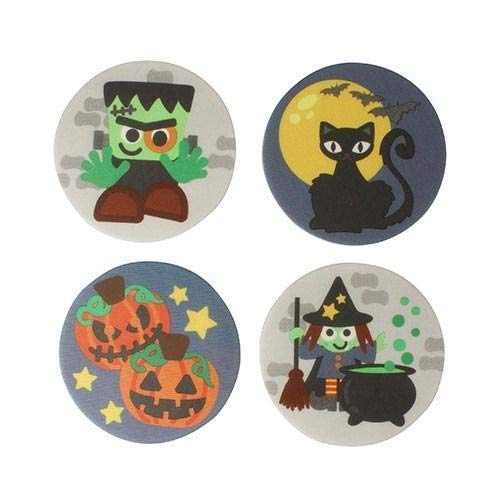 Halloween Biscuit Plaques Edible Cake Toppers - 24 Toppers
