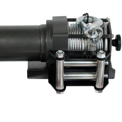 Timbertech Flaschenzug Seilwinde Elektro Seilwinde 1360KG 12V mit Fernbedienung und Seil in Stahl