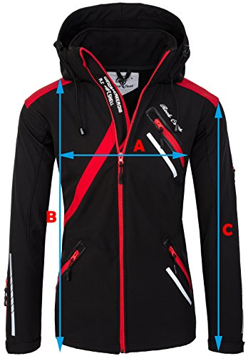Rock Creek Herren Softshell Jacke Outdoor Regenjacke Softshelljacke Windbreaker Laufjacke Wanderjacke Funktions Sport Jacken H-127 White S - 2