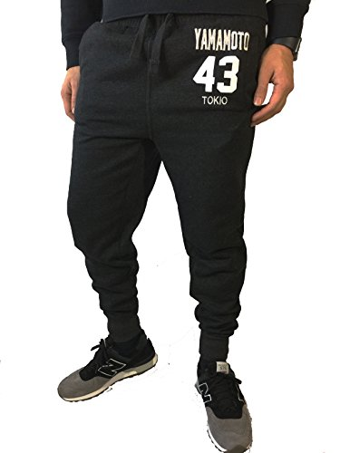 SRKS NYC Herren Slim Jogginghose Sweat Pants Tight Fit Noos (M, Yamamoto Schwarz)