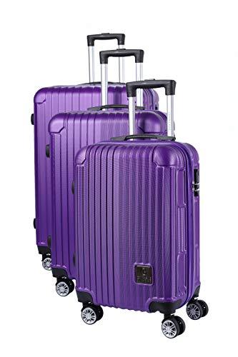 Compagnie du bagage Set DE 3 VALISES Juego de Maletas 48 Centimeters Morado (Violet)