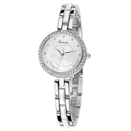 relojes 2015 de la moda del reloj del cuarzo de KIMIO Nueva forma femenina hermosa rom¨¢ntica KW500S Color Plata