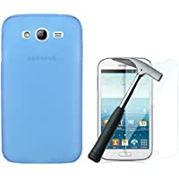 OVIphone Funda Gel TPU Para SAMSUNG GALAXY GRAND NEO / NEO PLUS + Cristal Templado (Color Azul)