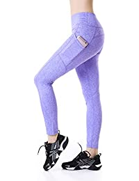 44d96d1c4620b4 EAST HONG Women's Yoga Pants Running Tights Active Leggings 2 Side Pocket