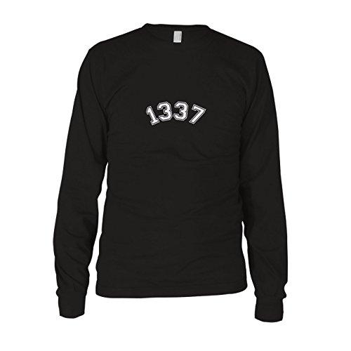 1337 - Herren Langarm T-Shirt Schwarz