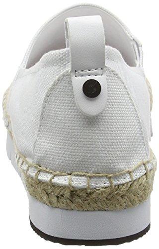 Calvin Klein Jeans Damen Genna Canvas Sneakers Weiß (Wht)