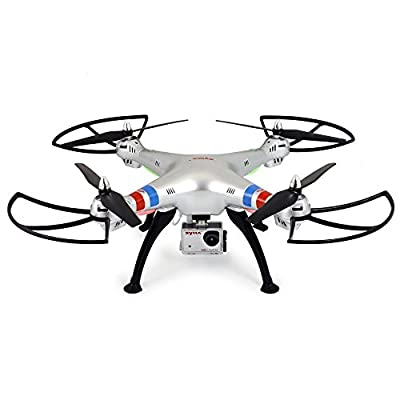 3D Roll RC Quadcopter, Megadream X8G 4CH 2.4GHZ 6 Axis Gyro Rechargeable LED RC Quadcopter Drone with HD 8MP 1080P Real Time Aerial Camera Support 360 Degree Rotation Flips, Headless Mode, Forward/Backward, Left/Right, Up/ Down, Left and Right Side Fly fo