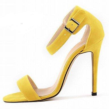 zhENfu Scarpe donna tessuto Stiletto Heel tacchi sandali parte & sera abito / / CasualBlack / blu / giallo / il verde / viola Yellow
