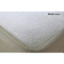 Crafts Linen Manualidades, Impermeable Protector de colchón de Rizo para Super King Size (45