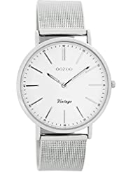 Oozoo Vintage Damen-Armbanduhr Silber/Weiß C7395