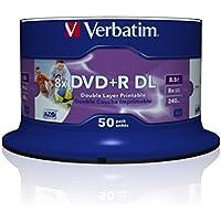Verbatim DVD+R DOUBLE LAYER 8.5 GB PRINTABLE 50er SPINDEL