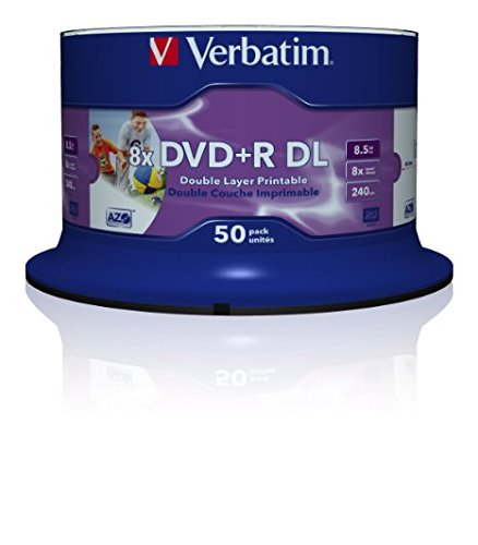 Verbatim DVD+R DOUBLE LAYER 8.5 GB PRINTABLE 50er SPINDEL