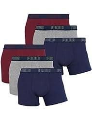 6 er Pack Puma Boxer Boxershorts Men Pant Underwear new, Farben:514 - Rhododendron;Größe Bekleidung:S