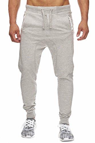 BELLIS® Herren Jogginghose Sweatpants Birds 20119, Light Grey, XL