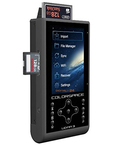 1000 GB / 1TB HDD HyperDrive COLORSPACE UDMA3 Professioneller Fotospeicher mit integriertem CF/SDXC Kartenleser und mobile WiFi Festplatte (6,35 cm (2,5