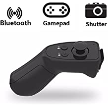 Télécommande Bluetooth, Hizek Gamepad sans fil pour IOS, Android, Smartphone IPhone 7 / 6sPlus / IPhone6Plus, Samsung Galaxy S7 / Galaxy S7 bord, HUAWEI (Batterie Non Incluse)