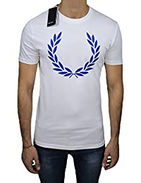 Fred Perry - T-shirt - manches courtes - Homme blanc Bianco Large